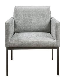 Canton Grey Velvet Chair