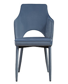 Aquila Grey Velvet Chair