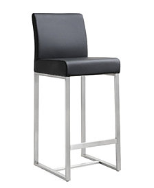 Denmark Black Steel Counter Stool