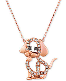 "Le Vian Nude™ & Blackberry® Diamond Dog 20"" Pendant Necklace (1/4 ct. t.w.) in 14k Rose Gold"