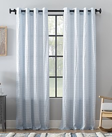 Archaeo Seersucker Stripe Cotton Blend Grommet Top Curtain Collection