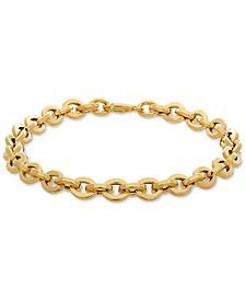 Rolo Link Bracelet in 10k Gold