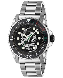 Men's Swiss Diver Stainless Steel Bracelet Watch 45mm