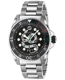 Gucci Men's Swiss Diver Stainless Steel Bracelet Watch 45mm