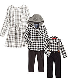 Epic Threads, Carters & Tommy Hilfiger Girls & Boys Holiday Black & White Family Separates