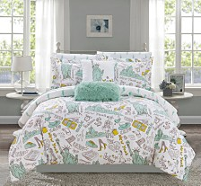 Chic Home Liberty 9-Pc. Bed In a Bag Comforter Sets