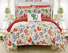 Flopsy 6 Piece Twin Bed In a Bag Comforter Set