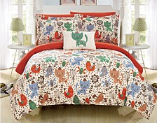 Chic Home Flopsy 6 Piece Twin Bed In a Bag Comforter Set