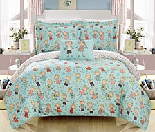 Woodland 6 Piece Twin Bed In a Bag Comforter Set
