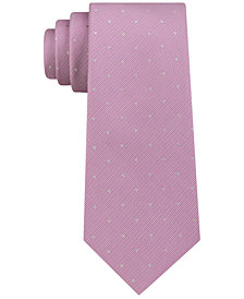 Calvin Klein Men's Reflective Slim Multi-Dot Tie