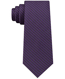 Calvin Klein Men's Slim Geometric Pinstripe Tie