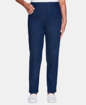 c3c6262b49c Alfred Dunner Greenwich Hills Super Stretch Proportioned Medium Pull-On  Pants