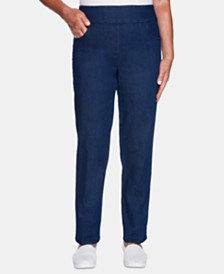 Alfred Dunner Greenwich Hills Super Stretch Proportioned Medium Pull-On Pants