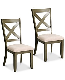 Omaha X-Back Dining Chair (Set Of 2), Quick Ship