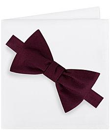 Michael Kors Men's Solid Bow Tie & Pocket Square Set
