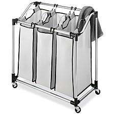 Chrome Laundry Sorter with Foam Mesh Bags