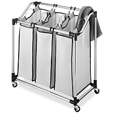 Whitmor Chrome Laundry Sorter with Foam Mesh Bags