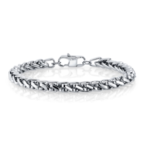 6mm Wheat Chain Stainless Steel Bracelet