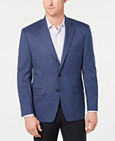 Lauren Ralph Lauren Men s Classic-Fit UltraFlex Stretch Blue Houndstooth  Check Sport Coat 2b7c85c8651