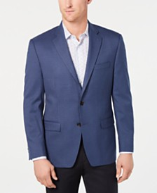 Lauren Ralph Lauren Men's Classic-Fit UltraFlex Stretch Blue Houndstooth Check Sport Coat