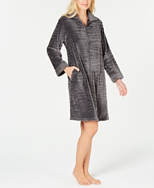 07be3cf66e Miss Elaine Petite Fleece Long Zip Robe - Bras