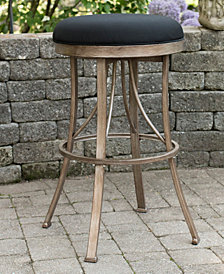 Indoor / Outdoor Bishop Backless Swivel Bar Stool