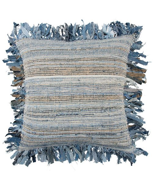 "Rizzy Home 22"" x 22"" Textured Stripe Pillow Cover"