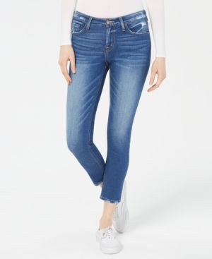 FLYING MONKEY Frayed Skinny Jeans in Lighthouse