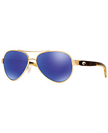 Costa Del Mar Polarized Sunglasses, CDM LORETO 06S000172 57P