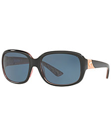 Costa Del Mar Polarized Sunglasses, GANNET 58