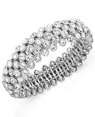 Silver Tone Glass Bracelet by Charter Club