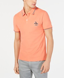 Original Penguin Men's Contrast Trim Logo Polo, Created for Macy's