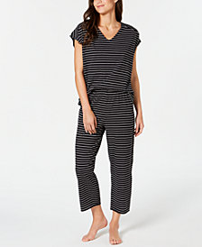 Charter Club Cotton Short-Sleeve Dolman Top and Pajama Pants Set, Created for Macy's