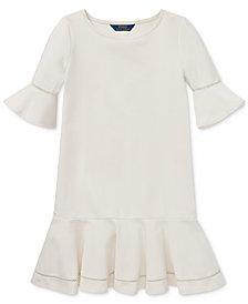 Polo Ralph Lauren Big Girls Ponté-Knit Inset-Lace Dress