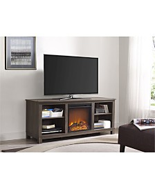 Ameriwood Home Rossi Tv Console With Fireplace For Tvs Up To 60 Inches