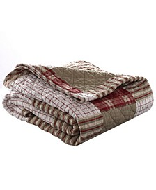 Camano Island Red Quilted Throw