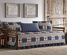 Madrona Navy Plaid Daybed Set