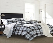 Lewis Plaid Atlantic Full/Queen Duvet Cover Set