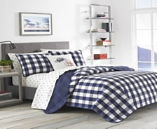 Eddie Bauer Lake House Plaid Blue Twin Quilt Set
