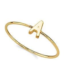 14K Gold Dipped Initial Ring