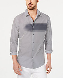 Alfani Men's Diagonal Striped Shirt, Created for Macy's