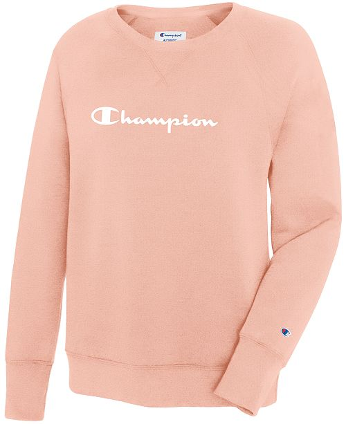 76f40f7c Champion Crew Neck Sweatshirt & Reviews - Tops - Women - Macy's