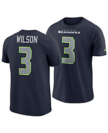 Nike Men's Russell Wilson Seattle Seahawks Player Pride Name and Number T-Shirt