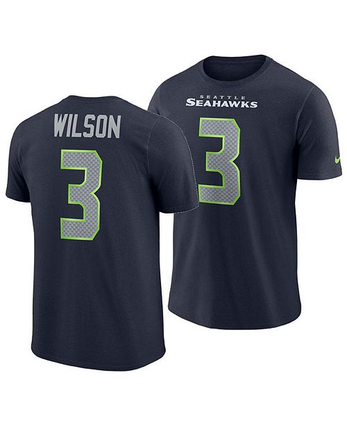 best website 0e6fc e7abd Men's Russell Wilson Seattle Seahawks Player Pride Name and Number T-Shirt
