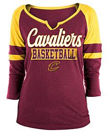 5th & Ocean Women's Cleveland Cavaliers Slub Foil Raglan T-Shirt