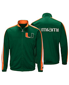 G-III Sports Men's Miami Hurricanes Challenger Full-Zip Track Jacket