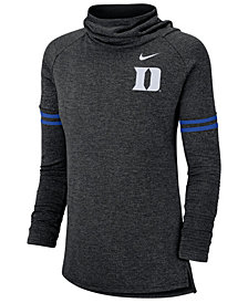 Nike Women's Duke Blue Devils Logo Funnel Neck Long Sleeve T-Shirt