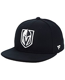 NHL Authentic Headwear Vegas Golden Knights Black DUB Fitted Cap