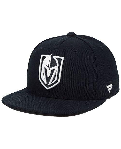 Authentic NHL Headwear NHL Authentic Headwear Vegas Golden Knights Black DUB Fitted Cap