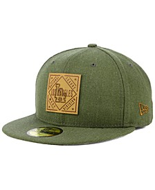 Los Angeles Dodgers Leather Patch 59FIFTY-FITTED Cap